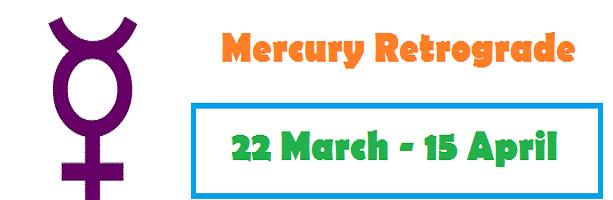 Mercury Retrograde in April 2018